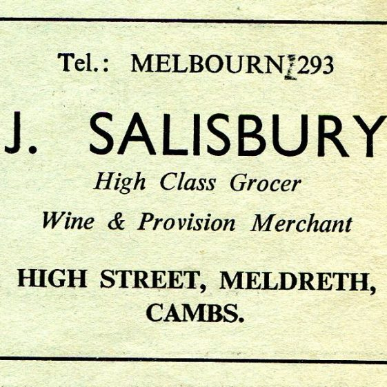 Advert for Salisbury's from The Melde Parish Magazine, March 1961 | Copy of The Melde kindly donated by Joan Gipson