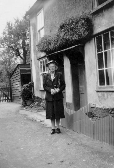 Sarah Butler (nee Pepper), elder sister to Ernest and Mark, outside the family home in Whitecroft Road. | Gloria Willers