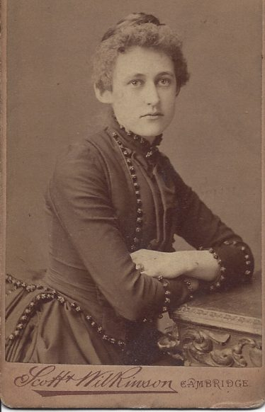 Lelia E. Ellis, June 1887. Lelia was one of the daughters of Charles and Maria and later became Lelia Nott Harding. | Wendy Ellis