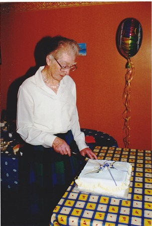 Sheila on her 90th birthday in 2011 | Photo supplied by Sheila's family