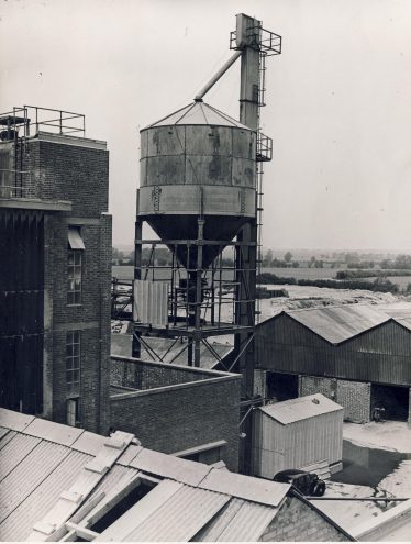 Silo at The Atlas factory with an air-raid siren on the top left | Robert Henry