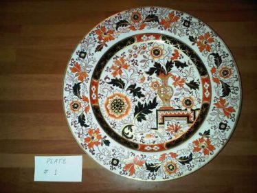 Single Ironstone China Ashworth Mason's plate | eBay photograph