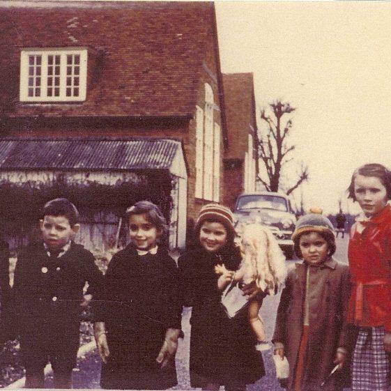 Pupils outside the school, c. 1958 | Photograph courtesy of Hilary Rathbone