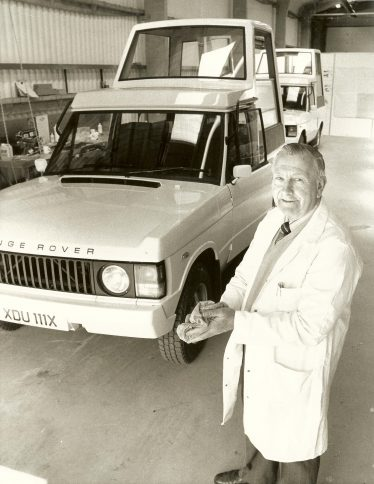 Keith Jacklin with the Popemobile in 1972 | Photograph supplied by Keith Jacklin