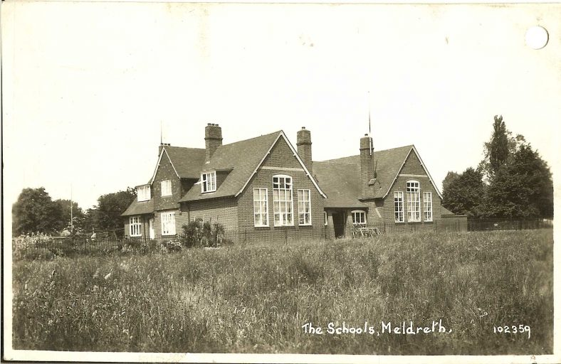 102359 The Schools, Meldreth<br> The school was opened in 1910 | Bell's postcard supplied by Ann Handscombe