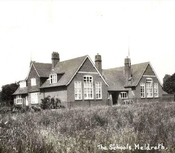 Meldreth School, High Street, Meldreth.  1920s | Bell's postcard supplied by Raymond Course