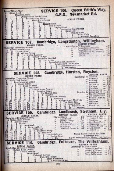 Timetable from 1932 | Patrick Burnside