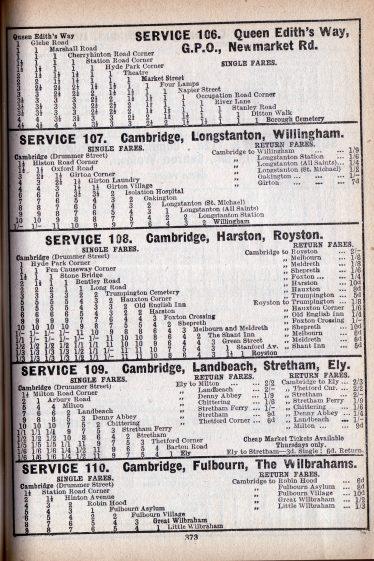 Timetable from 1932 | Patrick Burnside