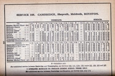 Timetable from 1942 | Patrick Burnside