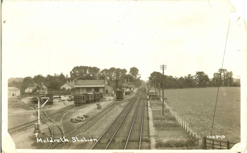 102370 Meldreth Station | Bell's postcard supplied by Ann Handscombe