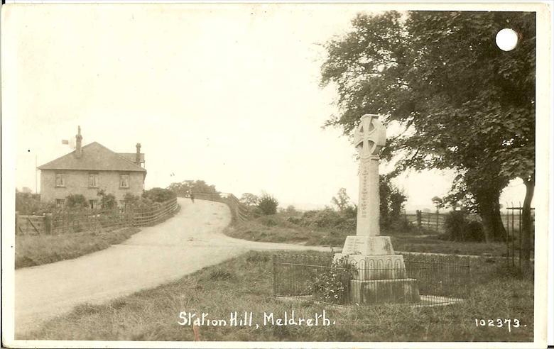 102373 Station Hill, Meldreth<br> Taken after February 1920, when the dedication of the War Memorial took place | Bell's postcard supplied by Ann Handscombe
