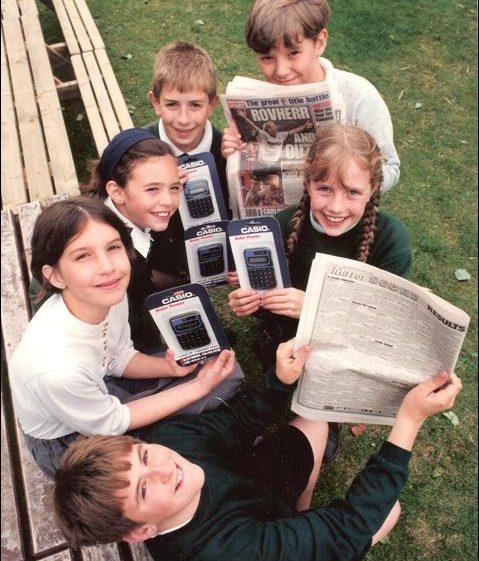 The children from class 6 with their prizes | Photograph courtesy of Meldreth Primary School