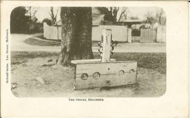 The stocks and whipping post, c. 1905 | R H Clarke postcard supplied by Brian Clarke
