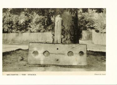 The stocks and whipping post, c. 1912 | Postcard supplied by Joan Gane