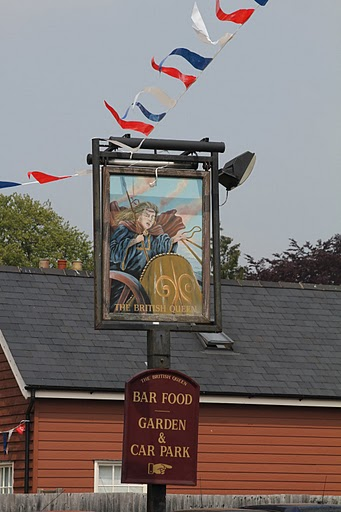 The British Queen pub sign | Photograph by Malcolm Woods