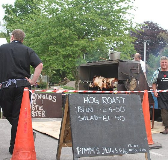 Hog roast at the British Queen | Photograph by Malcolm Woods