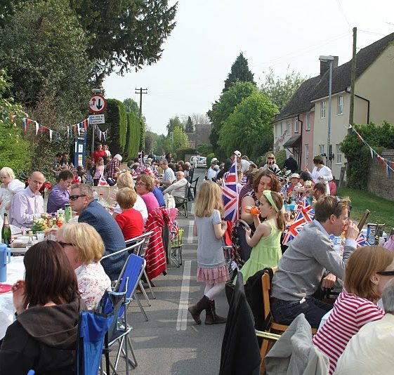 Street party scene | Photograph by Malcolm Woods