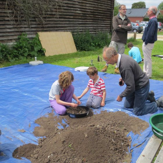 The scene at Test Pit 4 (British Queen) on the first day of digging | Photograph by Kathryn Betts