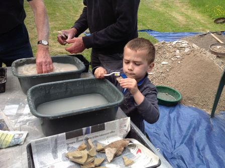 Day 2 Hayden Webb aged 4 washing finds | Photo supplied by Sandra Webb
