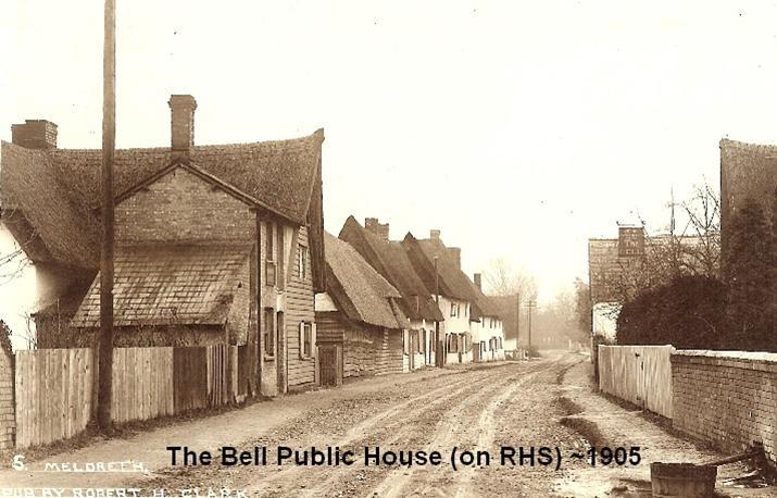 Meldreth High Street in 1905 | Robert H Clark photo