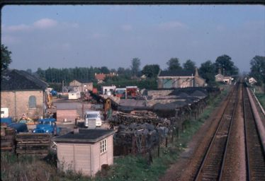 Meldreth Station Goods Yard in 1976.  Although the lines have gone the yard is busy again as a Charringtons Coal Depot. | Ann Handscombe