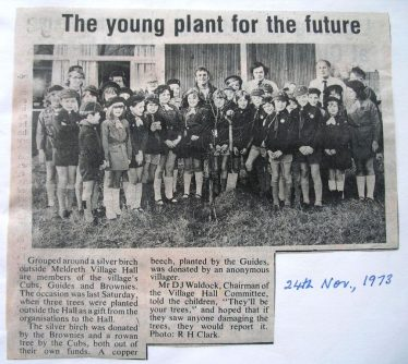 Tree Planting at Village Hall | This photo was taken from the Meldreth W.I Scrapbook
