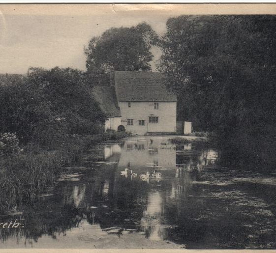 Topcliffe Mill and millpond, 1930s | Postcard supplied by Joan Gane