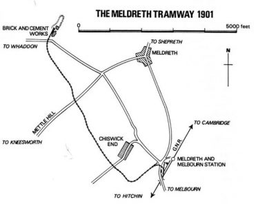 The Meldreth Tramway in 1901 | Source: Industrial Locomotive Society