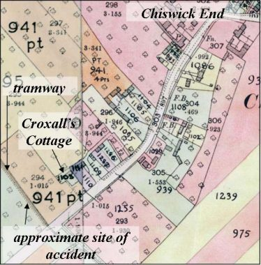 The Scene of the Accident | 1910 Land Values Duties Map, Cambridgeshire Archives