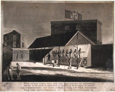 The Treadmill at Brixton Prison, 1822. | londonsoldestprison.wordpress.com