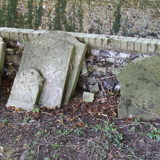 unidentified headstones | Photograph by Malcolm Woods