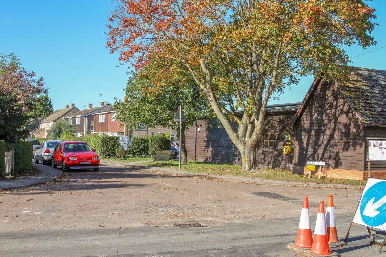 <b>Corner of High Street and Elin Way: Meldreth Village Hall</b> | Malcolm Woods, 2018