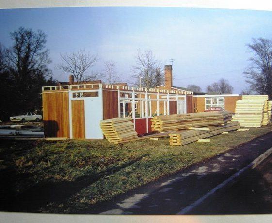 Meldreth Village Hall under construction | Meldreth W.I.