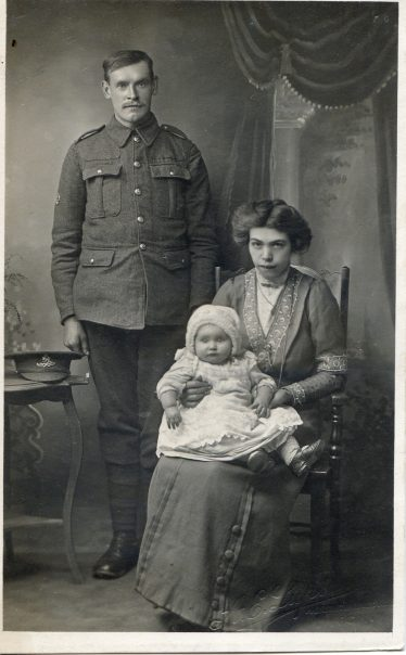 Lewis and Emily Harrup with one of their children | Photograph supplied by Graham Harrup