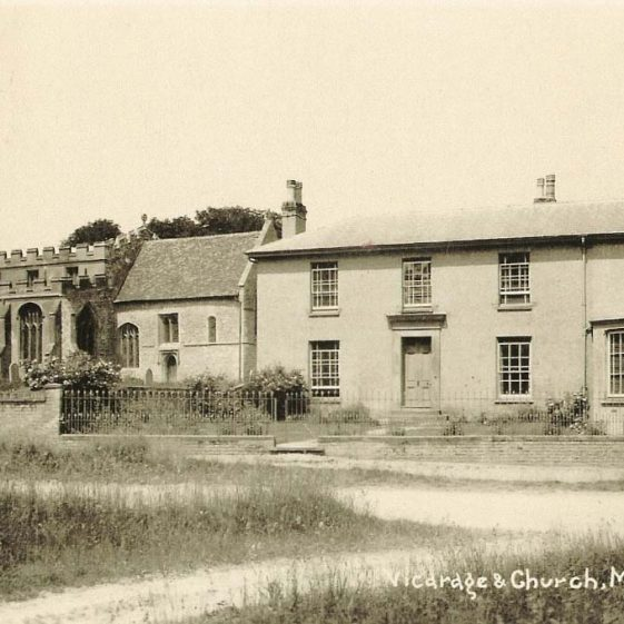 Holy Trinity Church and the vicarage, c. 1930s | Bell's Postcard supplied by Joan Gane