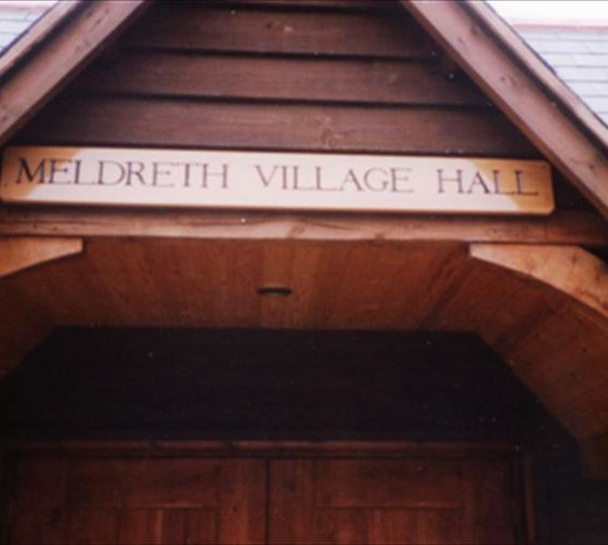 Meldreth Village Hall, corner of Elin Way and High Street, Meldreth showing new entrance following alterations and modernisation.  c.1991 | Photo supplied by Ron Comben