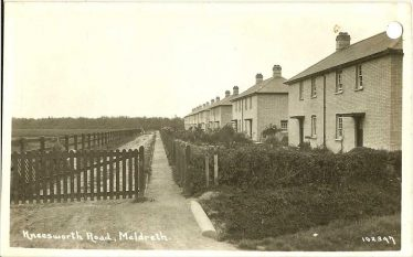 Houses in West Way (formerly Kneesworth Road) c. 1935 where Doreen lived all her life. | Bells Postcard supplied by Ann Handscombe