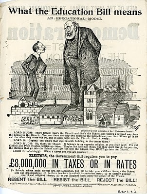 1902 poster encouraging resistance to the Conservative Government's Education Bill | Leeds City Council