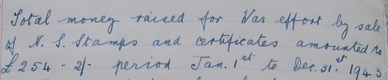 Extract from the school log book, January 1944 | Photograph courtesy of Meldreth Primary School