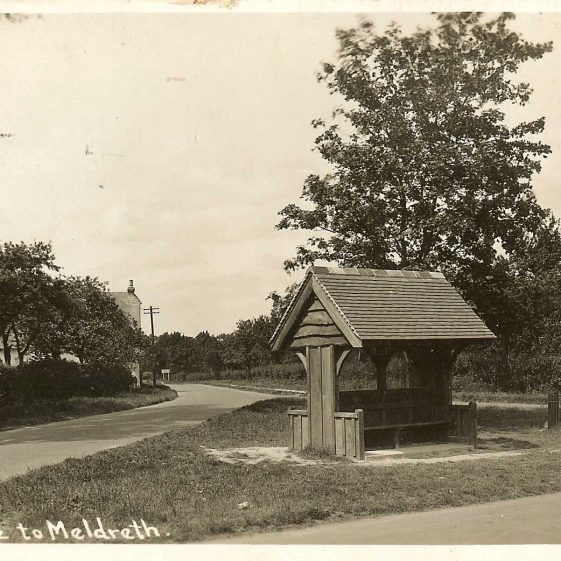 Meldreth War Memorial, 1920s. | Bell's Postcard supplied by Ann Handscombe
