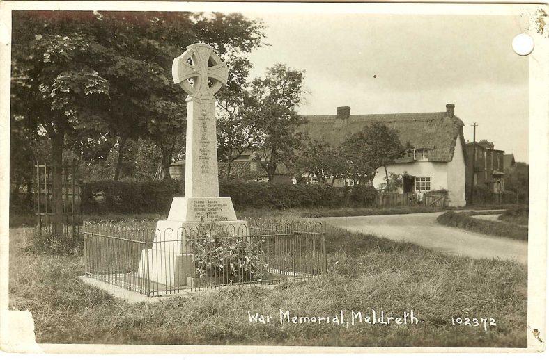 <b>Corner of High Street, Station Road and Whitecroft Road: War Memorial</b> | Bell's Postcard, 1920s