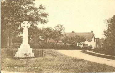 Hope Folly, just beyond Rose Cottage,from the War Memorial | Postcard: Ann Handscombe collection