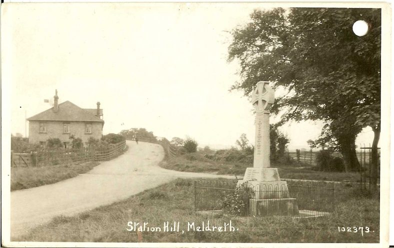 <b>Station Road: the War Memorial and Station Road Bridge</b> | Bell's Postcard, 1920s