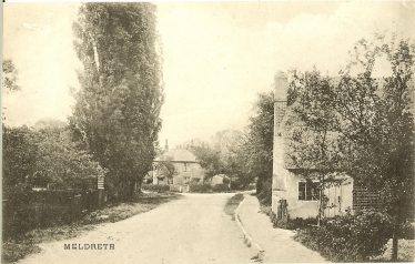 Photograph 11: Whitecroft Road ~1920 showing Bramble Cottage in the foreground and no 2 Chiswick End in the background | Postcard, manufacturer unknown