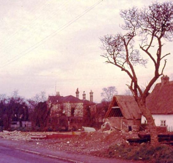 Woolpack barns and cottage being demolished in High Street, Meldreth prior to the building of John Gipson's garage. 26/12/1960 | Photo supplied by Ann Handscombe