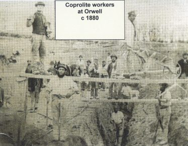 Coprolite workers | The Cambridgeshire Coprolite Mining Rush Richard Grove 1976 Photo Cambridge Folk Museum