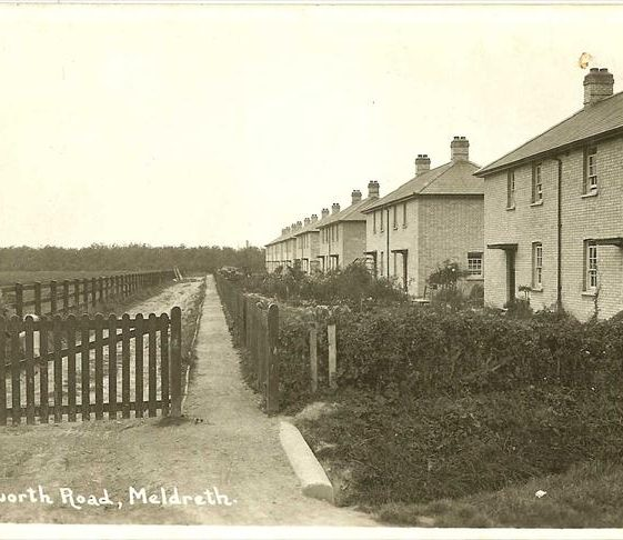 Council Houses in Kneesworth Road (now Elin Way), c. 1935 | Bell's Postcard supplied by Ann Handscombe