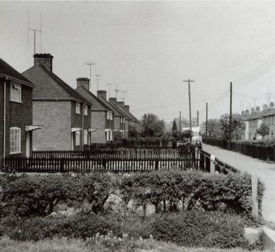 Council Houses in Kneesworth Road (now West Way), 20 May 1960 | Jarrolds Postcard supplied by Ann Handscombe